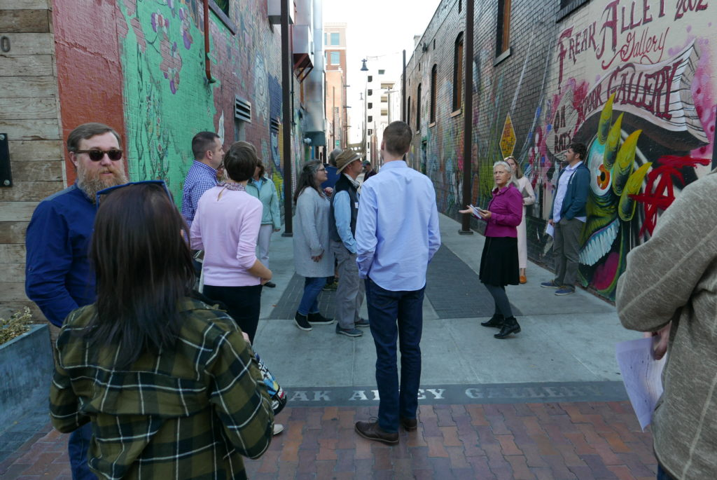 Touring Freak Alley