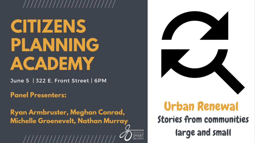June 5 Citizens Planning Academy