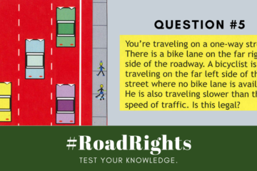 Road Rights Question 5 - biking on a one way